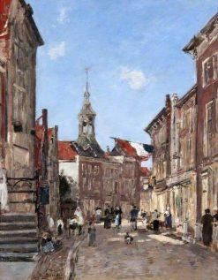 A Street in Dordrecht | Eugene Louis Boudin | Oil Painting