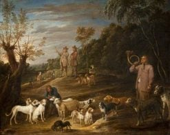 Landscape with Huntsmen and Dogs | David Teniers II | Oil Painting