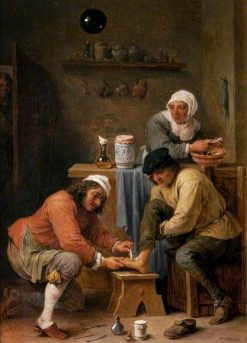 A Surgeon Treating a Peasant's Foot | David Teniers II | Oil Painting