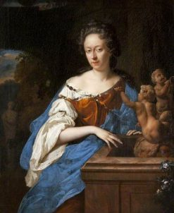 Portrait of a Lady by a Fountain | Adriaen van der Werff | Oil Painting