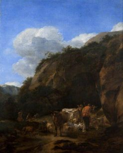 A Hilly Landscape with Herdsmen