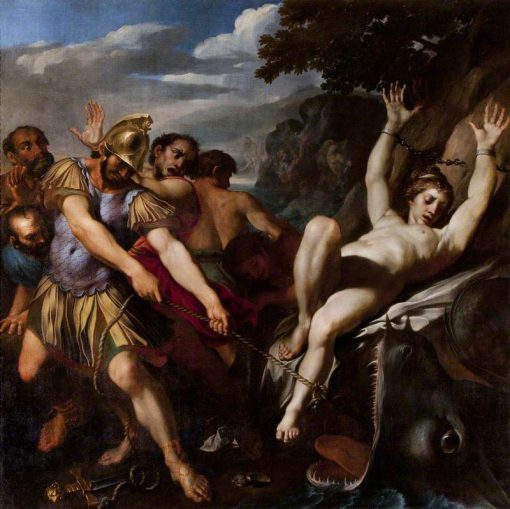 Orlando Delivering Olympia from the Sea Monster | Lodovico Carracci | Oil Painting