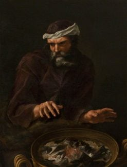 Winter: A Bearded Man Warming His Hands | Italian School th Century   Unknown | Oil Painting