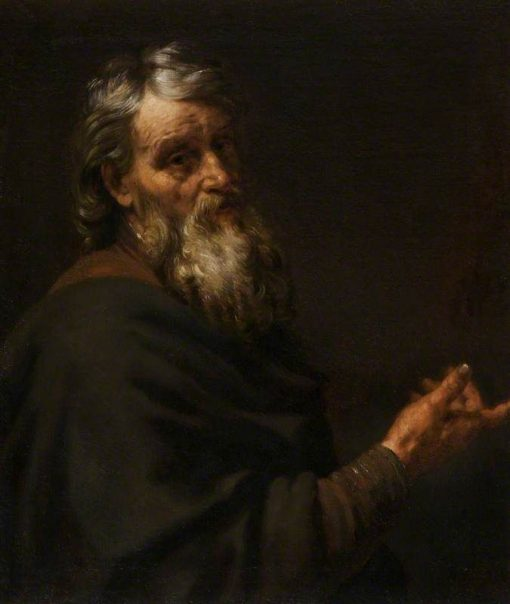 A Bearded Old Man Gesturing with his Right Hand | Italian School th Century   Unknown | Oil Painting