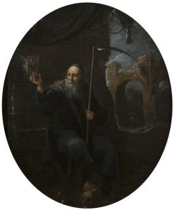 Time as an Old Man with a Scythe and an Hourglass | David Teniers II | Oil Painting