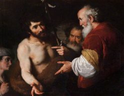Saint John the Baptist Interrogated about Christ | Bernardo Strozzi | Oil Painting