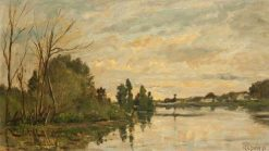 The River at Dusk | Hippolyte Camille Delpy | Oil Painting