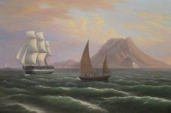 St. Eustatia | Thomas Birch | Oil Painting