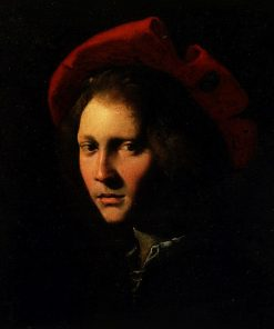 Young Man in a Red Cap | Girolamo da Carpi | Oil Painting