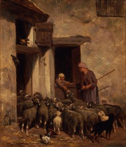 Return of the Flock | Charles Emile Jacque | Oil Painting