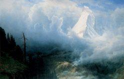 Storm on the Matterhorn | Albert Bierstadt | Oil Painting