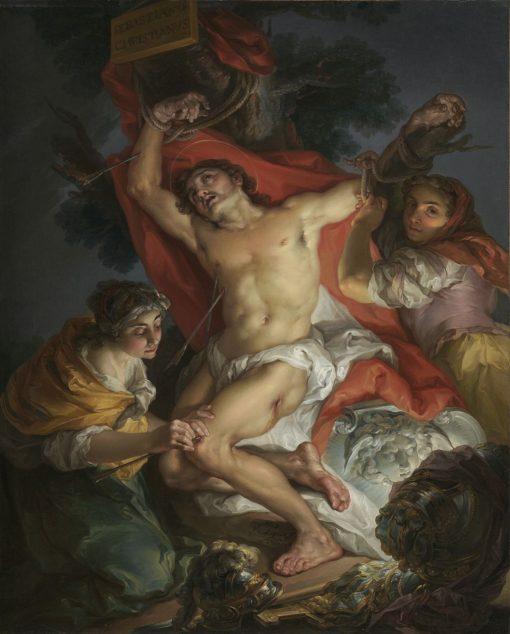 Saint Sebastian Tended by Saint Irene | Vicente Lopez y Portaña | Oil Painting