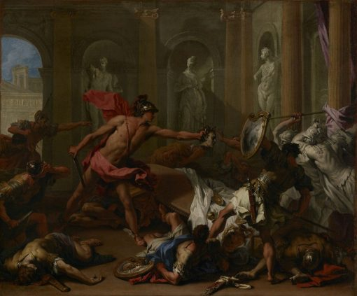 Perseus Confronting Phineus with the Head of Medusa   Sebastiano Ricci   Oil Painting