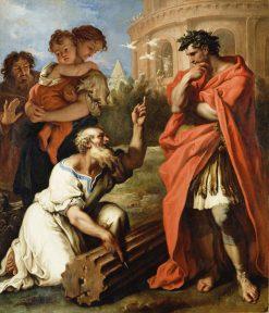 Tarquin the Elder Consulting Attius Navius | Sebastiano Ricci | Oil Painting