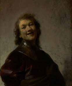 Rembrandt Laughing   Rembrandt van Rijn   Oil Painting