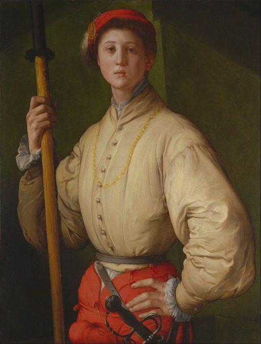 Portrait of a Halberdier (Francesco Guardi?) | Pontormo | Oil Painting