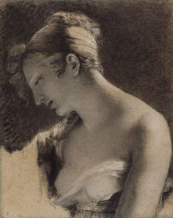 "Head of a Woman: Study for ""The Happy Mother"" (L'Heureuse mere) 