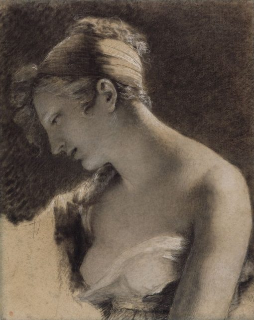 """Head of a Woman: Study for """"The Happy Mother"""" (L'Heureuse mere) 
