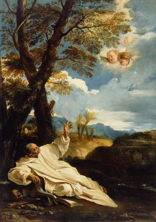 The Vision of Saint Bruno   Pier Francesco Mola   Oil Painting