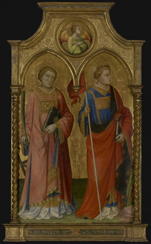 Saints Lawrence and Stephen   Mariotto di Nardo   Oil Painting