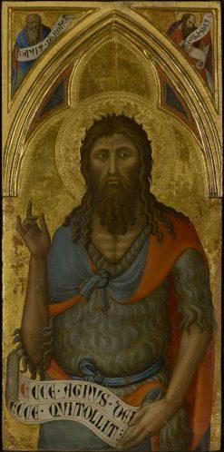 Saint John the Baptist   Luca di TommE   Oil Painting
