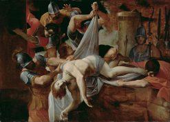 Saint Sebastian Thrown into the Cloaca Maxima | Lodovico Carracci | Oil Painting