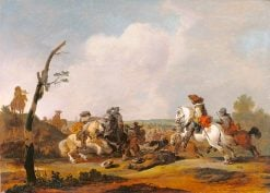 Battle Scene | Johannes Lingelbach | Oil Painting