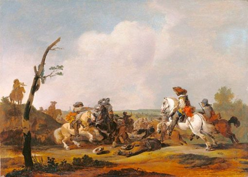 Battle Scene | Johannes Lingelbach | Oil Painting