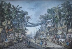 Market Scene in an Imaginary Oriental Port | Jean Pillement | Oil Painting