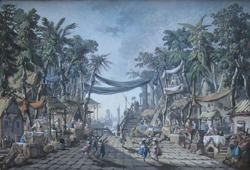 Market Scene in an Imaginary Oriental Port | Jean Pillement | Oil Painting