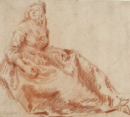Study of a Seated Woman | Jean Baptiste Pater | Oil Painting