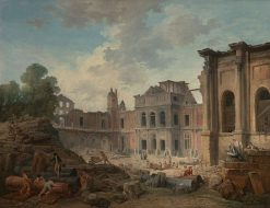Demolition of the Chateau of Meudon | Hubert Robert | Oil Painting