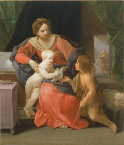 Virgin and Child with Saint John the Baptist | Guido Reni | Oil Painting