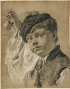 Boy Holding a Pear | Giovanni Battista Piazzetta | Oil Painting