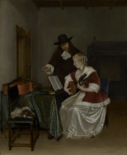 The Music Lesson | Gerard ter Borch | Oil Painting