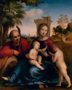 The Rest on the Flight into Egypt with Saint John the Baptist   Fra Bartolomeo   Oil Painting