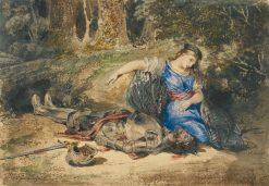 The Death of Lara | Eugene Delacroix | Oil Painting