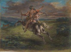 The Education of Achilles | Eugene Delacroix | Oil Painting