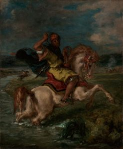Moroccan Horseman Crossing a Ford | Eugene Delacroix | Oil Painting