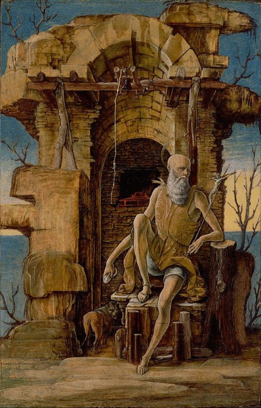 Saint Jerome in the Wilderness | Ercole de' Roberti | Oil Painting
