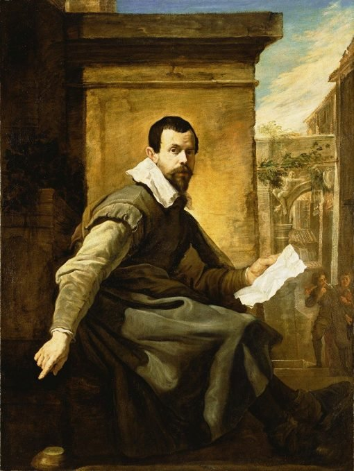 Portrait of a Man with a Sheet of Music | Domenico Fetti | Oil Painting