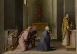 The Miraculous Communion of Saint Catherine of Siena | Domenico Beccafumi | Oil Painting