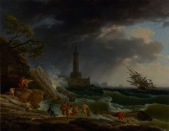 A Storm on a Mediterranean Coast | Claude Joseph Vernet | Oil Painting