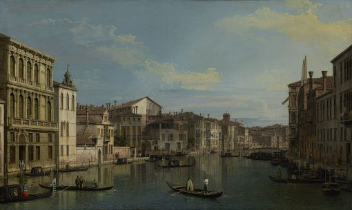 The Grand Canal from Palazzo Flangini to Campo san Marcuola   Canaletto   Oil Painting