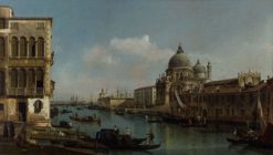 View of the Grand Canal and the Dogana   Bernardo Bellotto   Oil Painting