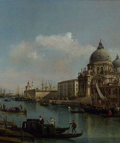 View of the Grand Canal and the Dogana | Bernardo Bellotto | Oil Painting