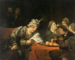The Banquet of Ahasuerus | Aert de Gelder | Oil Painting