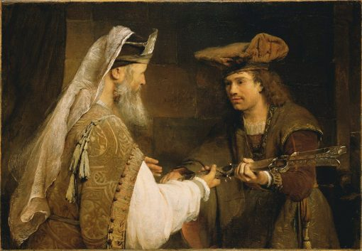 Ahimelech Giving the Sword of Goliath to David | Aert de Gelder | Oil Painting