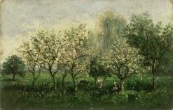 Apple Trees in Blossom | Charles Francois Daubigny | Oil Painting