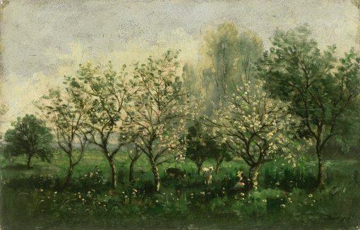 Apple Trees in Blossom | Charles Francois Daubigny | Oil Painting
